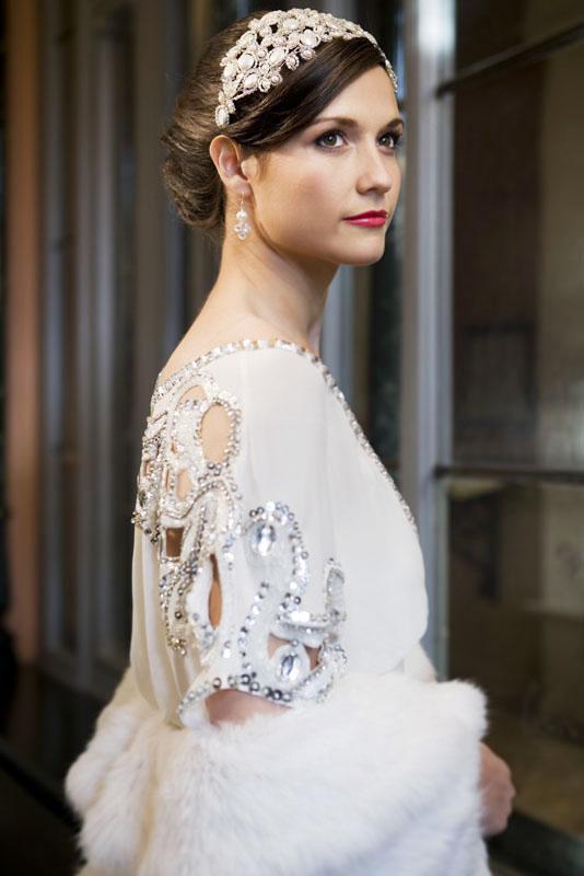 Hermione Harbutt bridal headband